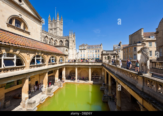 The Roman Baths, The Great Bath, The Only Hot Springs In The UK,