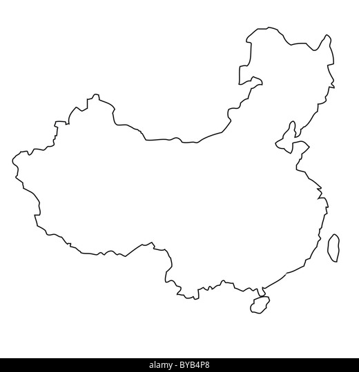 Outline, map of China Stock Photo: 34051312 - Alamy