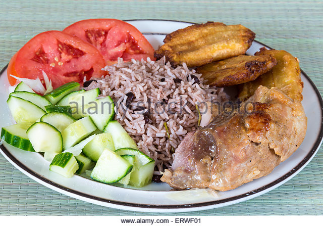 Eating rice and caribbean stock photos eating rice and for Authentic cuban cuisine
