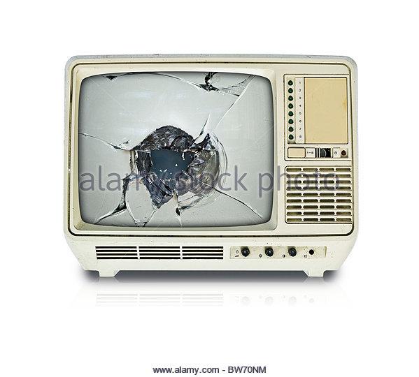 Broken Tv Screen Stock Photos Amp Broken Tv Screen Stock