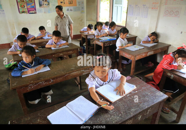classroom in laos Challenge ban phao school is one of many schools in rural laos suffering from neglect and lack of funds parts of this school were built 20 years ago from materials donated by families of the village.