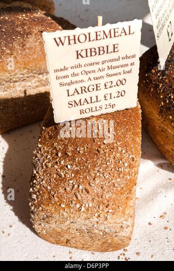 Wholemeal Kibble Loaf For Sale Street Market Southampton Uk Stock Image