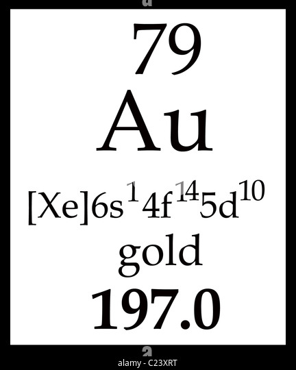 Symbol au chemical element gold stock photos symbol au chemical golds box in the periodic table with symbol atomic number name and atomic mass urtaz