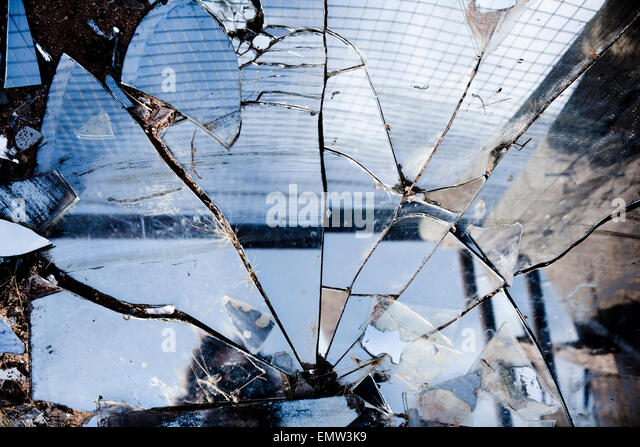 Broken Reflection Broken Mirror Stock Ph...