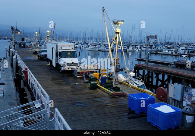 Ocean fishing pier stock photos ocean fishing pier stock for Santa barbara fishing