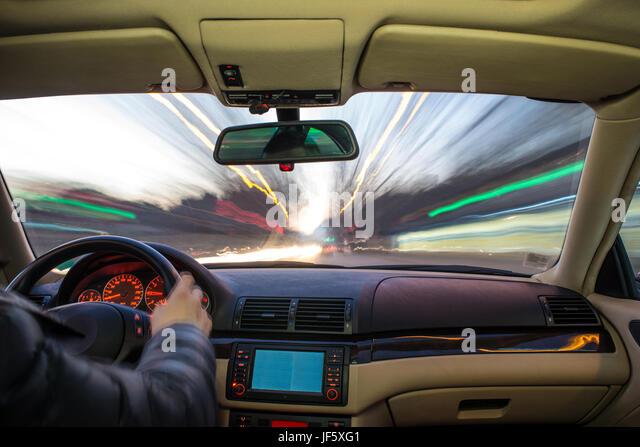 driving car interior speed blur stock photos driving car interior speed blur stock images alamy. Black Bedroom Furniture Sets. Home Design Ideas
