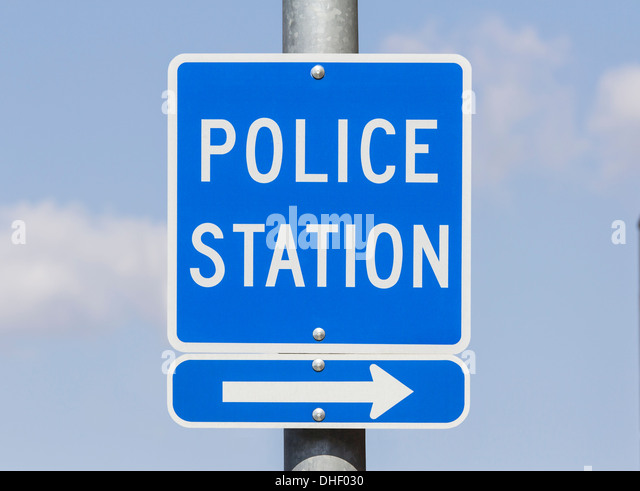 Blue Police Sign Stock Photos Amp Blue Police Sign Stock