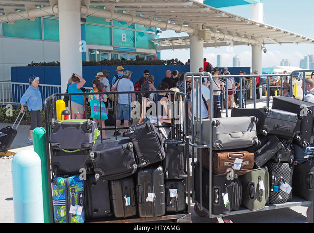luggage and cruise liner Answer 1 of 12: this is our first cruise, could someone tell me if you lock your luggage we'll be driving to the pier so it will go from our trunk to the ship do they check or scan the luggage thanks in advance.