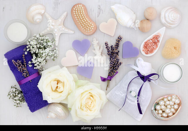 Lavender and rose flowers with spa and bathroom accessories    Stock Image. Bathroom Accessories Stock Photos  amp  Bathroom Accessories Stock