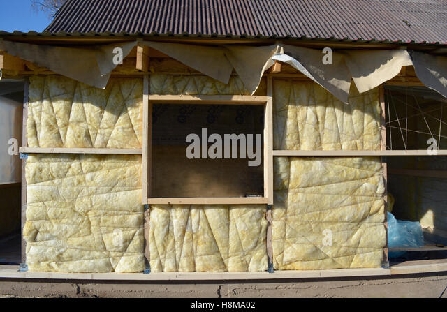 House insulation installation stock photos house for Wool house insulation