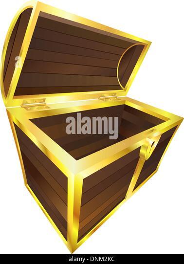 Pirate Booty Chest on Stock Illustration Pirates Treasure Maze Kids Box Game Children