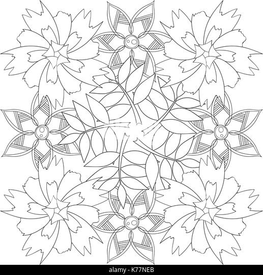 Coloring Book Page For Adults And Kids In Doodle Style