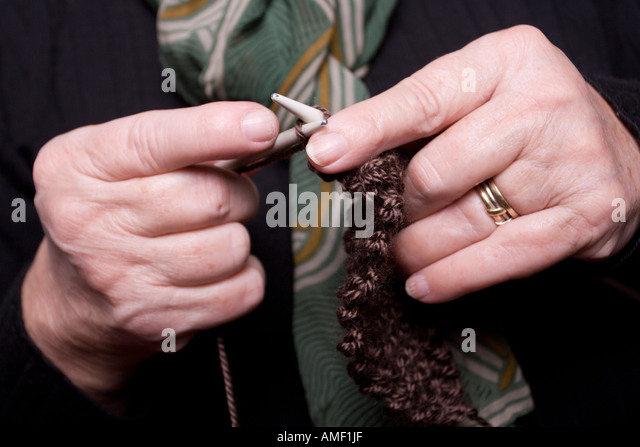 Knitting With Arthritic Hands : Knitter stock photos images alamy