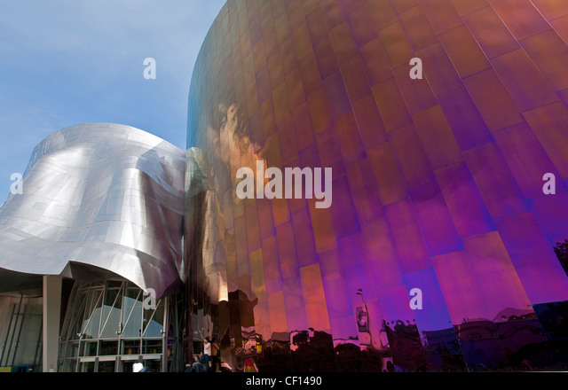 The Experience Music Project And Science Fiction Museum. Seattle Center.  Washington. USA
