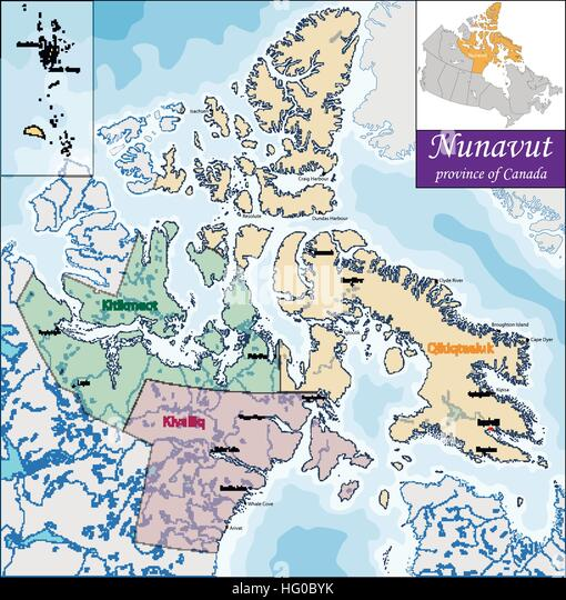 Canadian Territory Of Nunavut Stock Photos  Canadian Territory Of