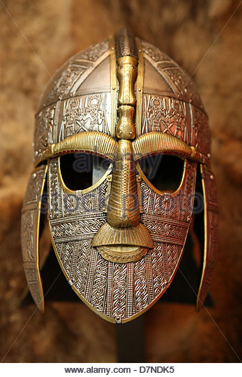 Sutton Hoo Helmet Stock Photos and Images