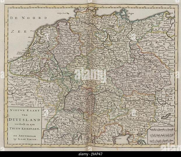 Nieuwe en beknopte hand atlas   1754   UB Radboud Uni Nijmegen   209718609 017 Duitsland - Stock Image