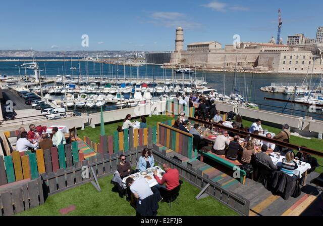 Marseille Mucem Terrace Stock Photos & Marseille Mucem