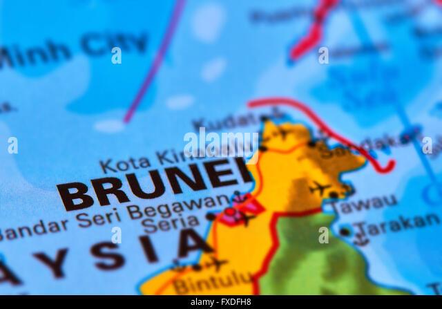 Brunei Map Stock Photos Brunei Map Stock Images Alamy