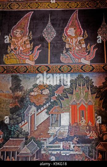 Detail Of Mural Paintings Stock Photos & Detail Of Mural ...
