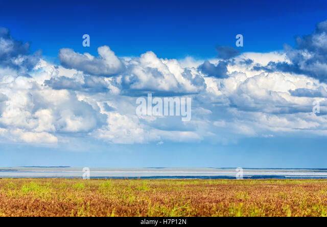 Beautiful Blue Sky Panorama Stock Photo, Picture And Royalty Free ...