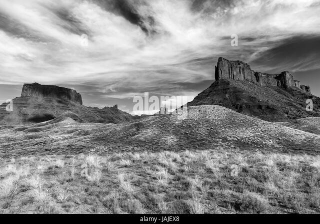 Sandstone buttes, Moab, Utah - Stock Image