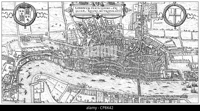 Historical London Map Stock Photos Historical London Map Stock - London map historical