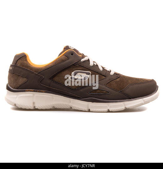 Skechers Equalizer Timepiece Brown Men's Running Shoes - 999669-BRN - Stock Image