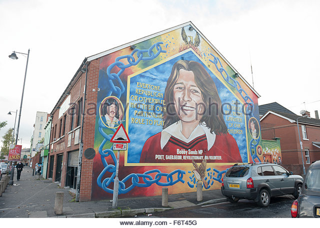 Republican mural in belfast stock photos republican for Mural northern ireland