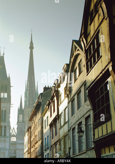 Cathedral rouen stock photos cathedral rouen stock for Haute normandie rouen