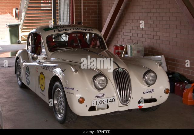 xk140 stock photos xk140 stock images alamy jaguar xk140 racing car in a pit garage at eastern creek nsw