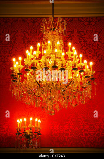 Interior With Crystal Chandelier Stock Photos Amp Interior
