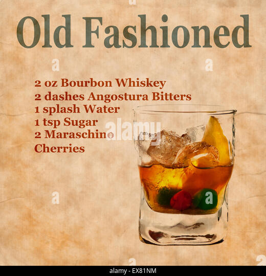 Ingredients Of An Old Fashioned Cocktail