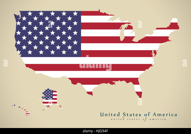 United America Flag Usa Map Stock Photos United America Flag Usa