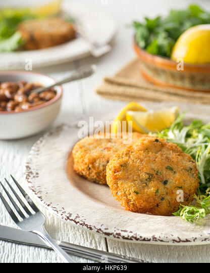 Breaded fish stock photos breaded fish stock images alamy for Baked fish cakes