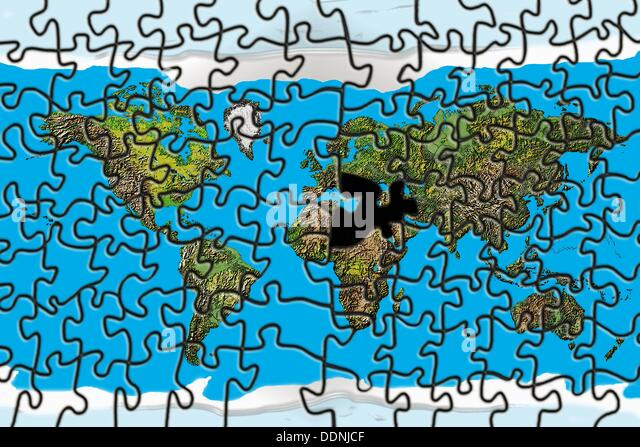 World Map Puzzle Missing Piece Stock Photos World Map Puzzle