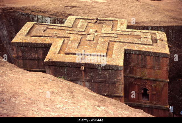 St georges cross ethiopia stock photos