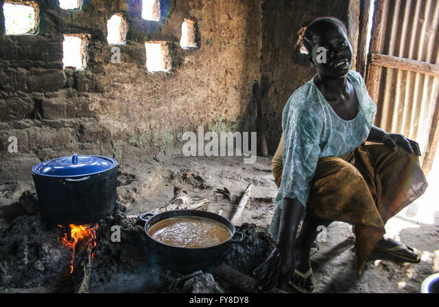 African woman cooking stock photos african woman cooking for African kitchen
