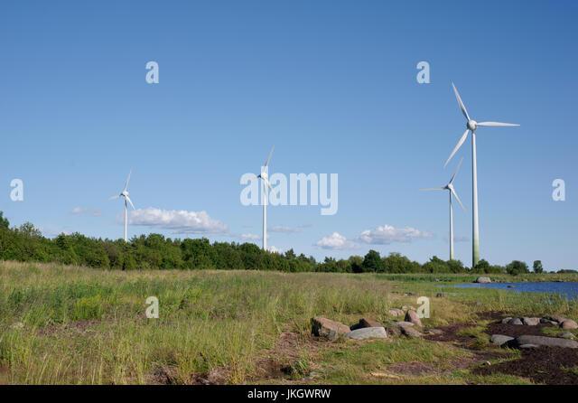 Virtsu Wind farm. Estonia 14th July 2017 - Stock Image