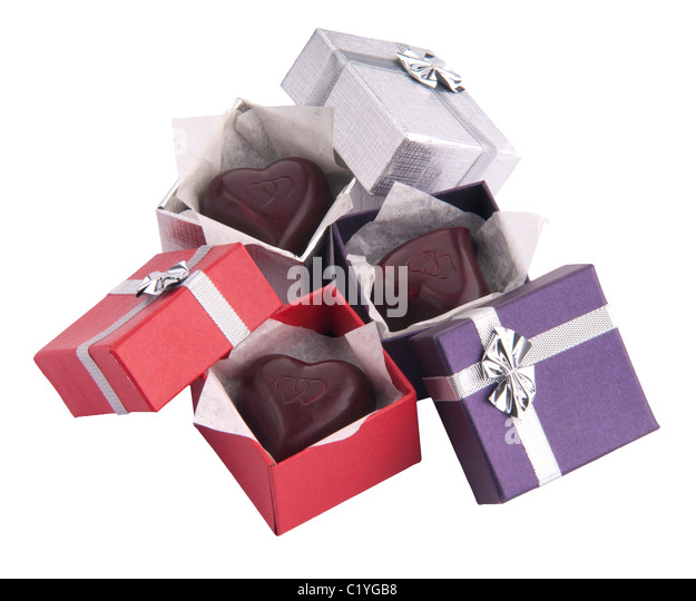 Chocolate Heart Shaped Gift Boxes : Chocolate gift boxes stock photos