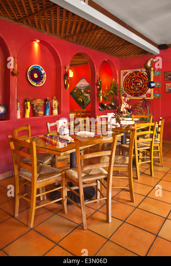 Mexican restaurant interior stock photos