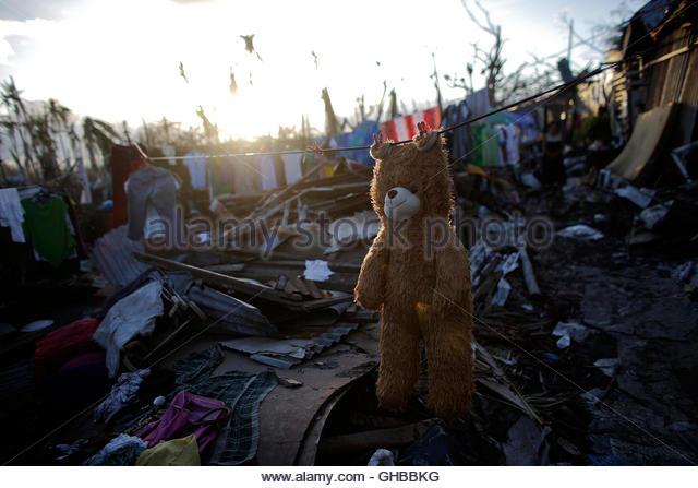 Philippines On 16 November on After Typhoon Haiyan Devastated Central Philippines On November 8
