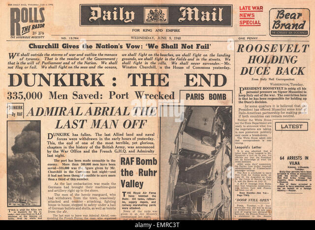 Image result for evacuation of dunkirk daily mail headline