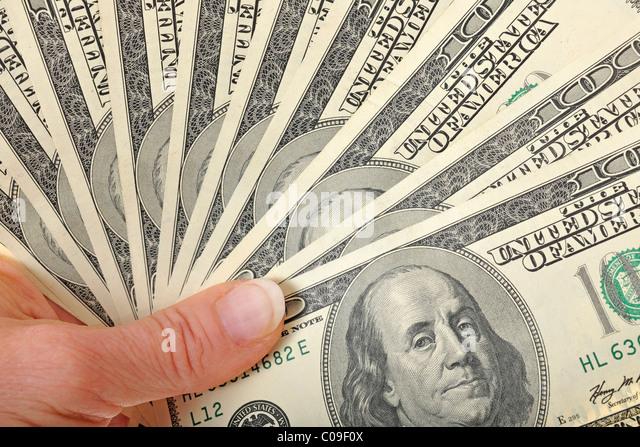Fan Of 100-dollar Bills Stock Photo - Image: 96334426