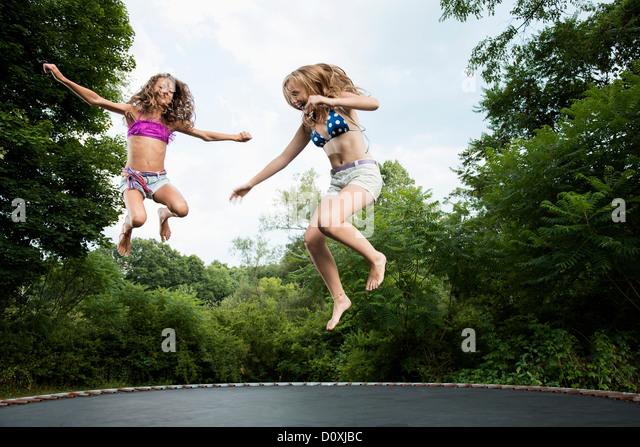 Girls on trampolines rather grateful