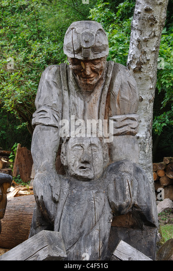 Forest of dean sculpture stock photos