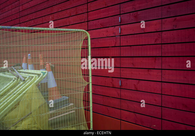 Temporary fencing stock photos temporary fencing stock for Temporary wood wall
