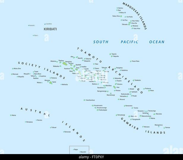 French Polynesia Map Stock Photos French Polynesia Map Stock - French polynesia map