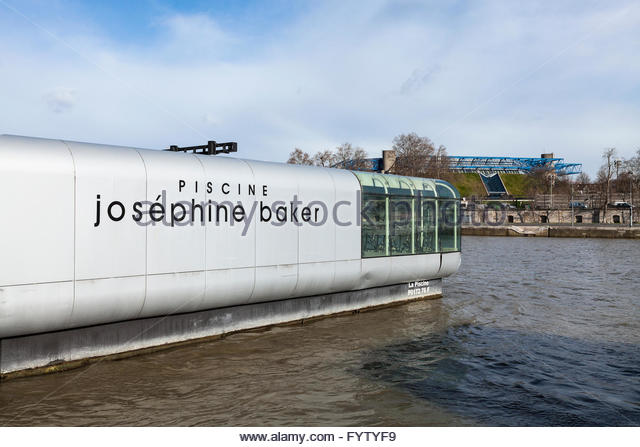 Josephine baker paris stock photos josephine baker paris for Floating swimming pool paris