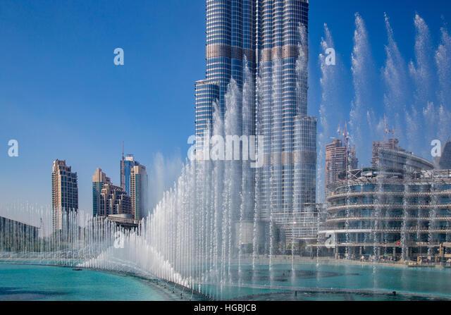 Dubai dancing fountain stock photos dubai dancing for Beat hotel in dubai